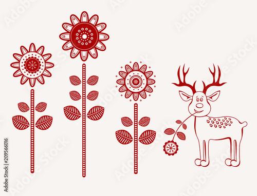 Kwiaty folk