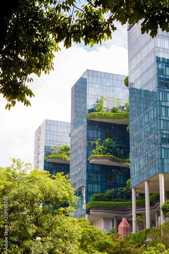 In de dag Aziatische Plekken Modern futuristic architecture of Singapore