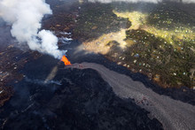 Aerial View Of The Eruption Of...