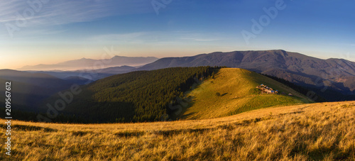 Beautiful mountains and blue sky in the Carpathians. Ukraine. #209567612