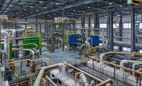 Obraz na plátne  chemical factory. packing area