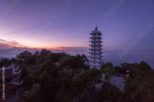 Foto op Canvas Asia land Bana Hills, Danang Vietnam - 22 May 2018: Sunset at Bana Hill Vietnam