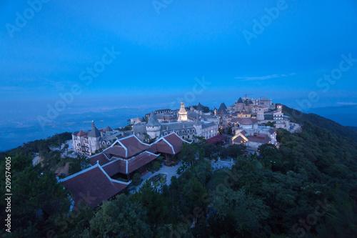Foto op Canvas Asia land Bana Hills, Danang Vietnam - 22 May 2018: Beautiful Bana hill in Vietnam