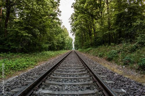 In de dag Spoorlijn Schienen