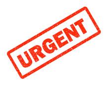 Urgent Red Rubber Stamp On White Background. Urgent Sign.  Text Urgent Stamp.