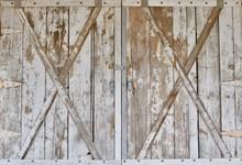 Distressed Wood Barn Doors