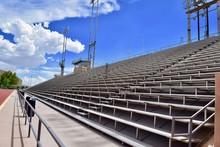 Stadium Bleachers With Blue Sk...