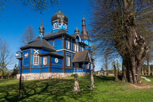 Wooden Orthodox Church Of The Protection Of The Holy Virgin In Puchly Village, Podlasie, Poland