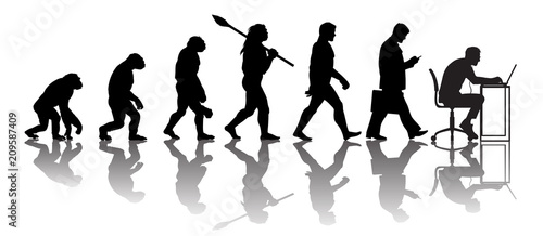 Tableau sur Toile Theory of evolution of man