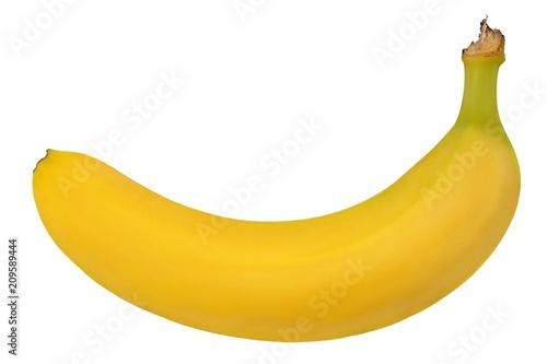 Banana on white
