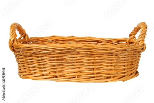 Fotomural  Wicker basket on white