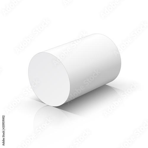 Fotomural White cylinder