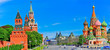 Leinwanddruck Bild - View of Kremlin and Red Square in summer in Moscow, Russia.