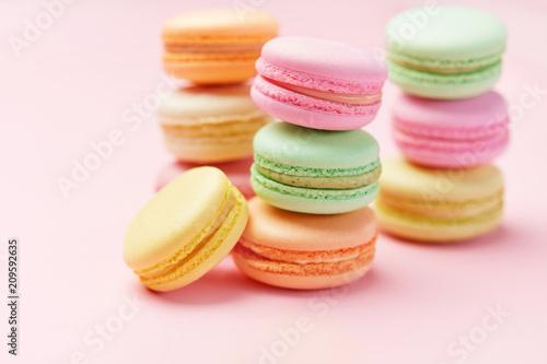 Sweets. Macarons Close Up