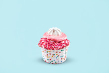 Cupcake. Cake Dessert On Colorful Background