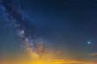 night starry sky with milky way background