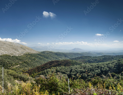 Spoed Foto op Canvas Khaki south albania countryside scenic landscape view