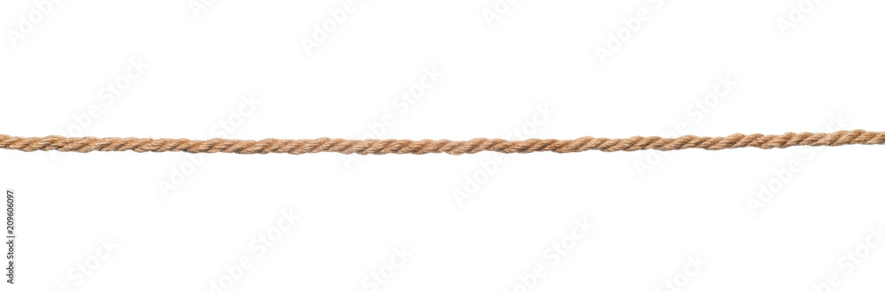 Fototapety, obrazy: Brown rope isolated