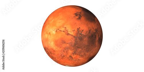 Fotografia Mars Planet space white background