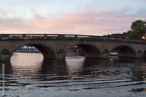 Fotografie, Obraz  Twilight on the river at Henley-On-Thames in Oxfordshire