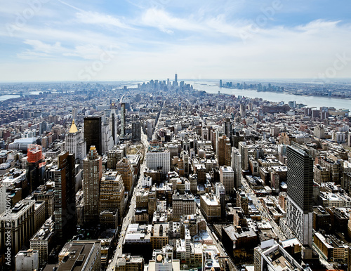 Staande foto New York City Cityscape view of Manhattan