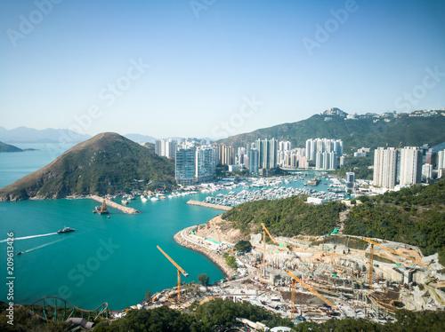 In de dag Aziatische Plekken Hong Kong beautiful skyline, nature and modern lifestyle together