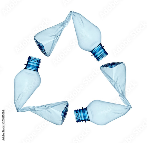 Obraz na plátne plastic bottle water container recycling waste