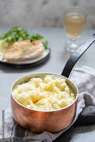 Mashed potato with a butter Canvas Print