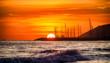 Leinwandbild Motiv sunset at the beach