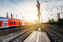 Regionalbahn Am Kölner Bahnhof
