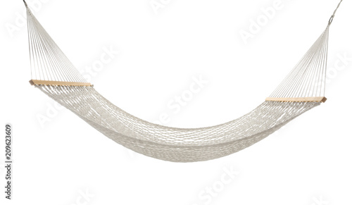 Obraz na plátně Comfortable hammock on white background