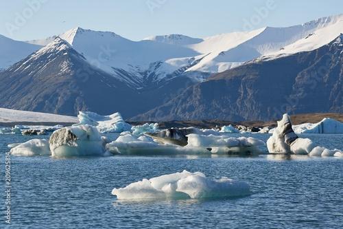 Printed kitchen splashbacks Glaciers Glacial lake in Iceland