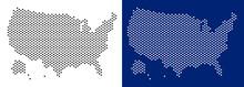 Pixel USA With Alaska Map. Vec...
