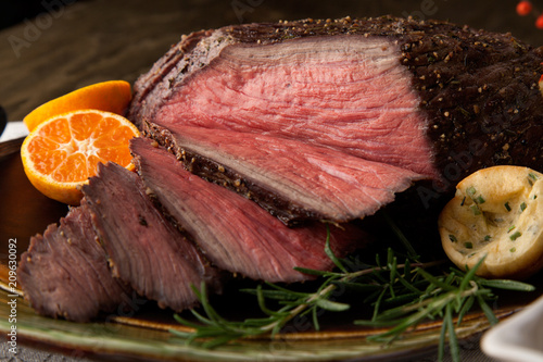 Fotografie, Obraz  Roast Beef Rustic Style