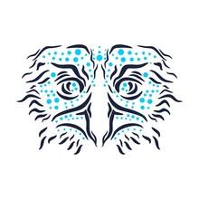 Ornamental Tattoo Bird Head. A...