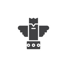 Eagle Totem Vector Icon. Fille...