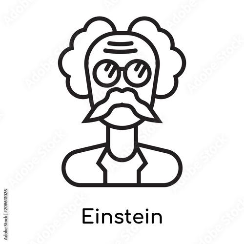 Foto  Einstein icon vector sign and symbol isolated on white background, Einstein logo