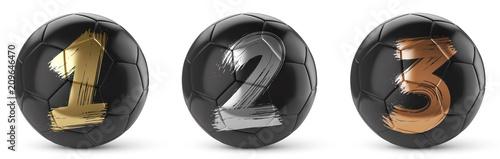 Leinwand Poster Ballon de football vectoriel 26