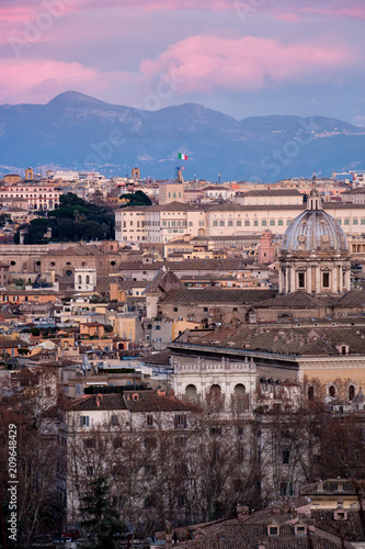 Panoramic View Of Rome From The Height Of Mons Janiculus