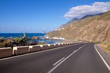 canvas print picture - road over the ocean, Tenerife