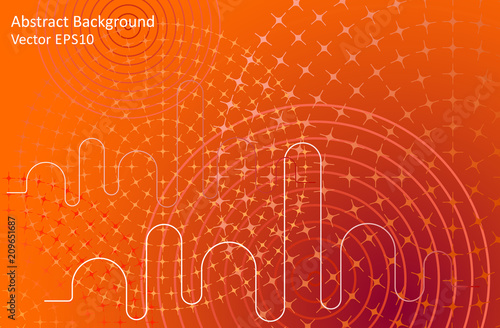 Tuinposter Abstractie Art Orange abstract vector background