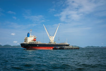 Cargo Ships At Anchorage, Koh ...