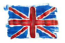 Painted British Flag Isolated