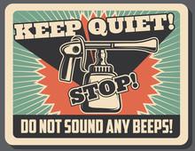 Vintage Car Horn Retro Poster For Vehicle Design