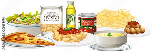 Fototapeta A Set of Italian Cuisine obraz