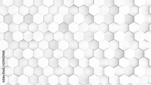 abstract geometric white texture background - 209659468