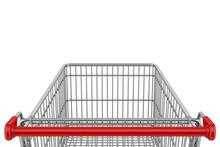 Empty Shopping Cart Isolated O...