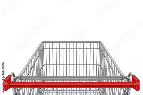 Cuadros en Lienzo empty shopping cart isolated on white background
