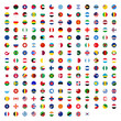 All country flags, world emblem symbol. Simple illustration for web or mobile app