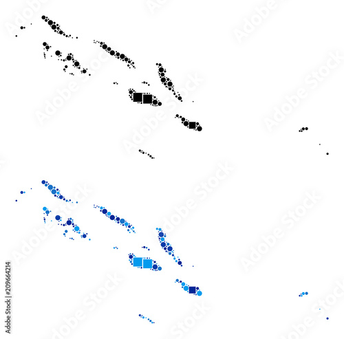 Dotted Solomon Islands map variants  Abstract geographic map